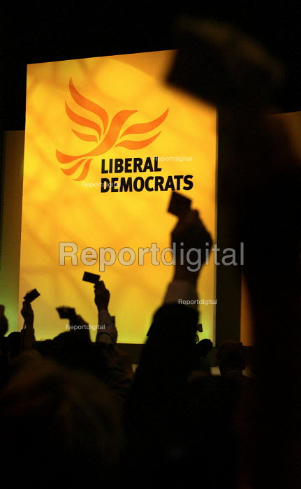 Delegates vote on the Tax Reform policy paper. Liberal Democrat Conference 2006, Brighton. - Jess Hurd - 2006-09-19