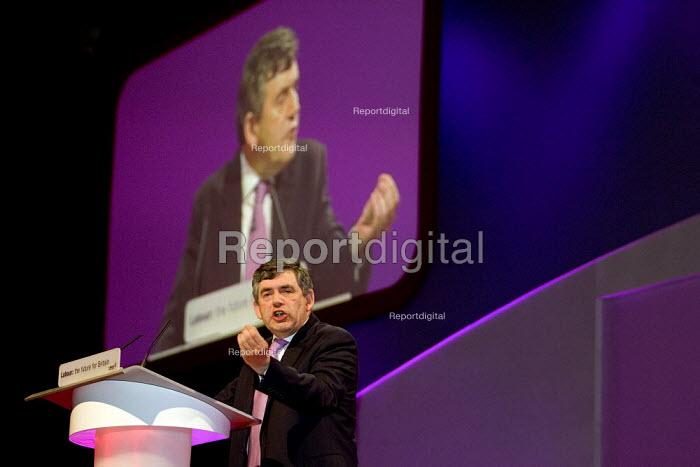Gordon Brown MP addresses Labour Party Conference 2006, Manchester. - Jess Hurd - 2006-09-25