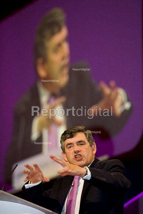 Gordon Brown MP addresses Labour Party Conference 2006, Manchester. - Jess Hurd - 2006-09-25