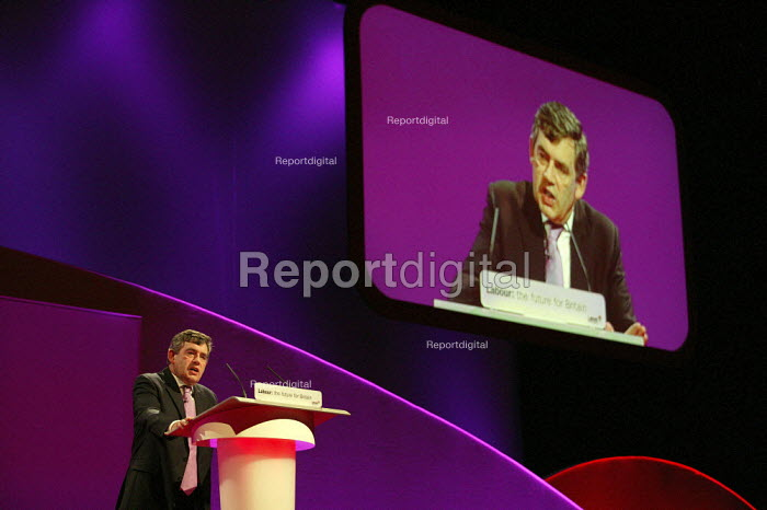 Gordon Brown MP addresses Labour Party Conference 2006, Manchester. - Jess Hurd - 2006-09-24