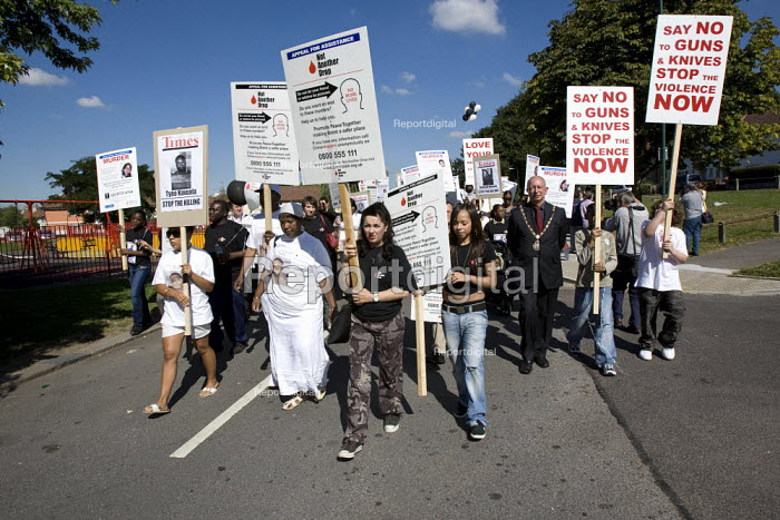 Not Another Drop - Peace demonstration to stop gun and knife violence in Brent. London. - Jess Hurd - 2007-09-15
