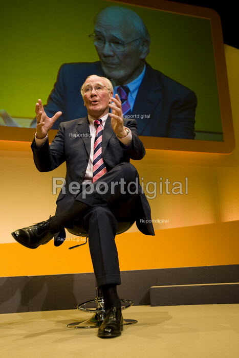 Menzies Campbell, Liberal Democrat Party Conference, Brighton. - Jess Hurd - 2007-09-17