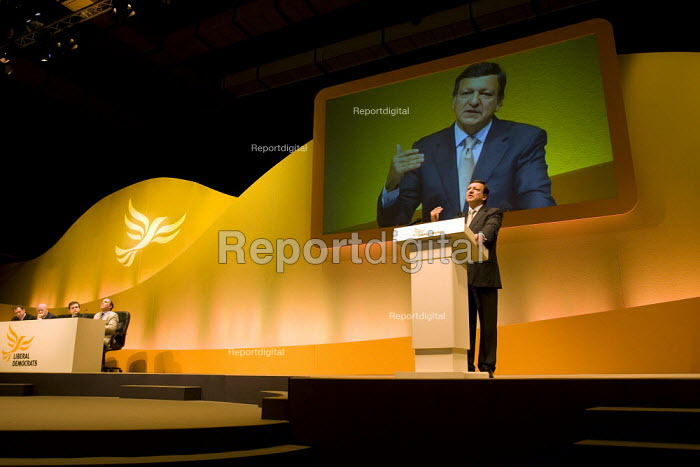 Jose Manuel Barroso, President of the European Commission. Liberal Democrat Party Conference, Brighton. - Jess Hurd - 2007-09-17