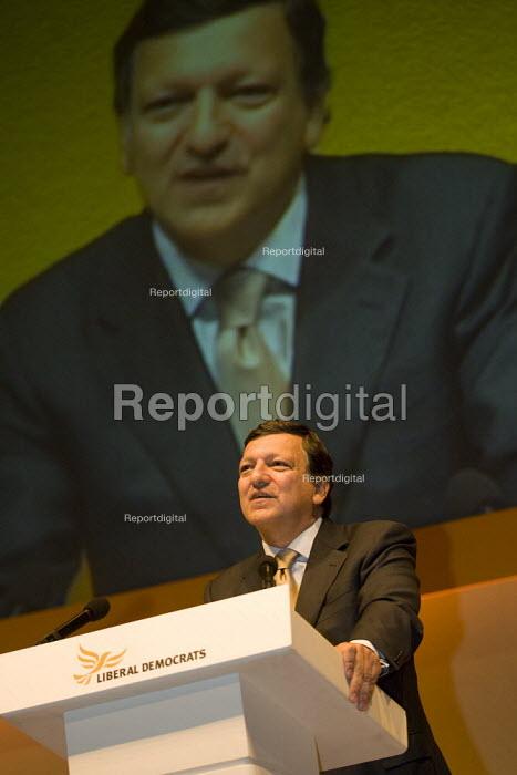 Jose Manuel Barroso, President of the European Commission. Liberal Democrat Party Conference, Brighton. - Jess Hurd - 2007-09-17