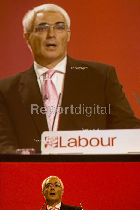 Alistair Darling MP. Labour Party Conference, Bournemouth 2007. - Jess Hurd - 2007-09-23