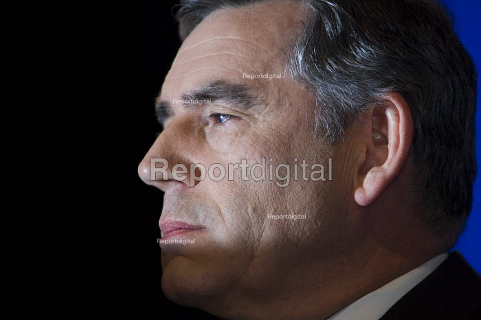Prime Minister Gordon Brown. Labour Party Conference, Bournemouth 2007. - Jess Hurd - 2007-09-24