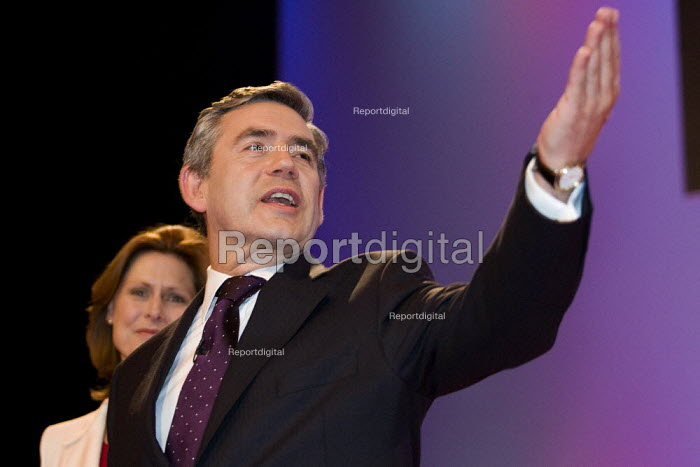 Prime Minister Gordon Brown. Labour Party Conference, Bournemouth 2007. - Jess Hurd - 2007-09-23