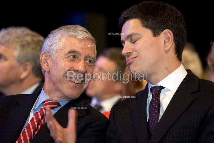 Jack Straw and David Miliband MP. Labour Party Conference, Bournemouth 2007. - Jess Hurd - 2007-09-24