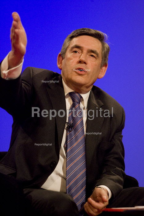 Prime Minister Gordon Brown. Labour Party Conference, Bournemouth 2007. - Jess Hurd - 2007-09-26