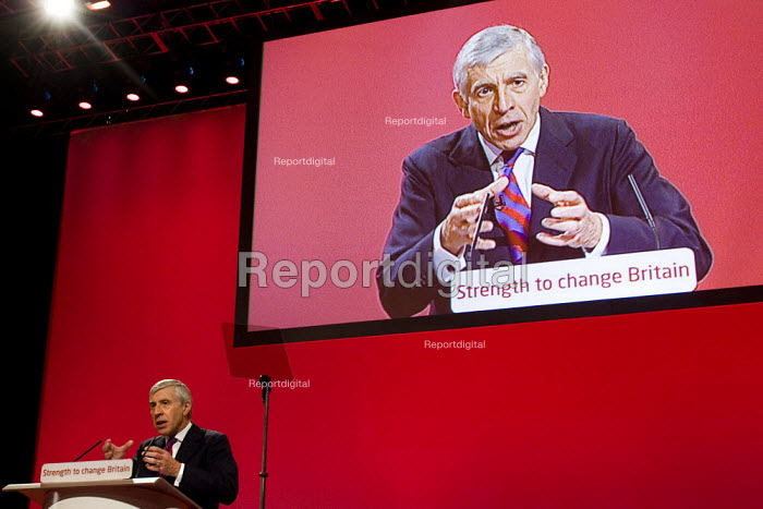 Jack Straw MP, Labour Party Conference, Bournemouth 2007. - Jess Hurd - 2007-09-26
