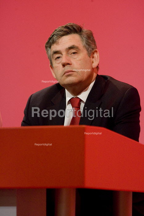 Prime Minister Gordon Brown, Labour Party Conference, Bournemouth 2007. - Jess Hurd - 2007-09-27