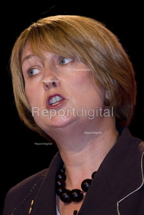 Jacqui Smith MP, Labour Party Conference, Bournemouth 2007. - Jess Hurd - 2007-09-27