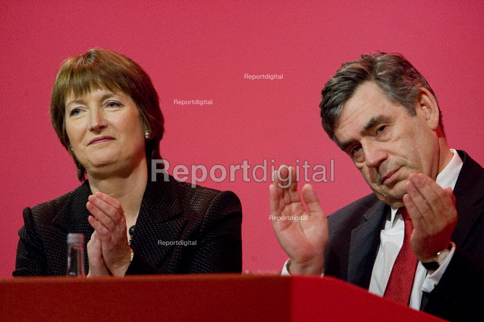 Harriet Harman and Gordon Brown, Labour Party Conference, Bournemouth 2007. - Jess Hurd - 2007-09-27
