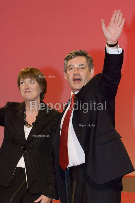 Harriet Harman and Gordon Brown. Labour Party Conference, Bournemouth 2007. - Jess Hurd - 2007-09-27