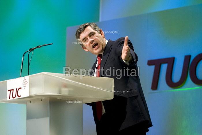 Prime Minister Gordon Brown. TUC, Brighton. - Jess Hurd - 2007-09-10