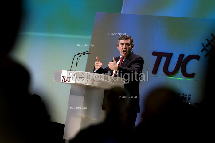 Prime Minister Gordon Brown. TUC, Brighton. - Jess Hurd - 2007-09-10