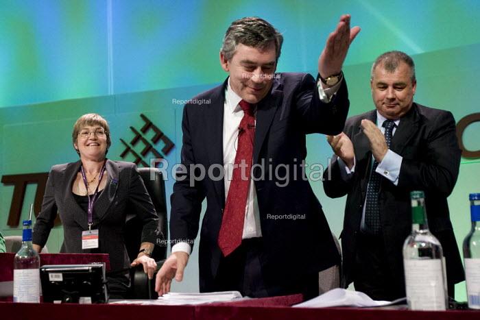 Brendan Barber TUC and Prime Minister Gordon Brown TUC Conference 2007. - Jess Hurd - 2007-07-16