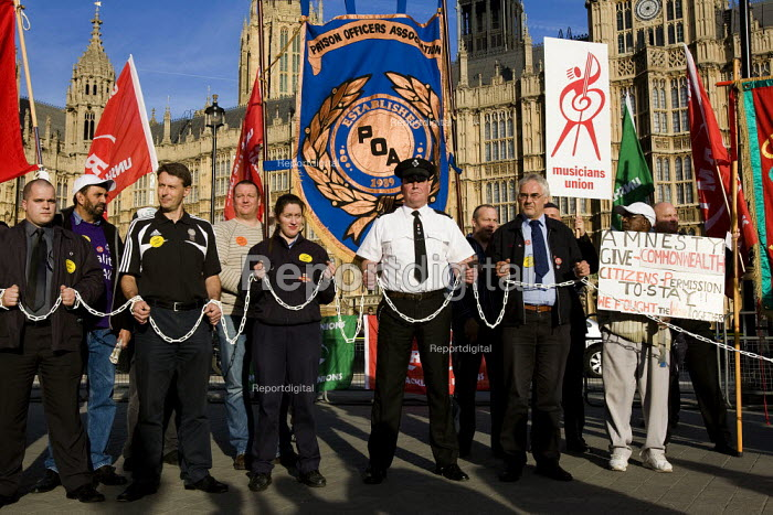 Demonstration to support the Trade Union Freedom Bill, Westminster, London. - Jess Hurd - 2007-10-18