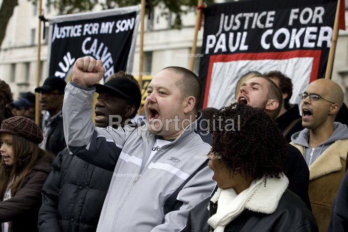 United Friends and Family Campaign against deaths in police custody. London. - Jess Hurd - 2007-10-27
