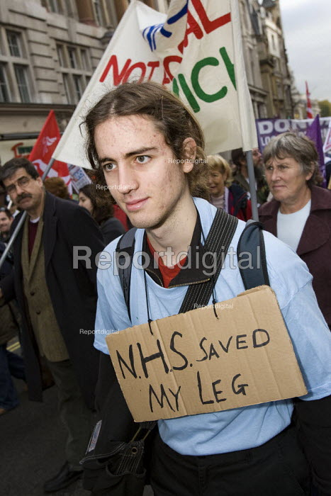 Keep Our NHS Public National Demonstration. London. - Jess Hurd - 2007-11-03