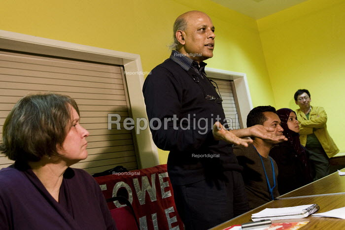 Kumar Murshid speaking at a Respect Tower Hamlets meeting, Kingsley Hall. London. - Jess Hurd - 2007-11-12