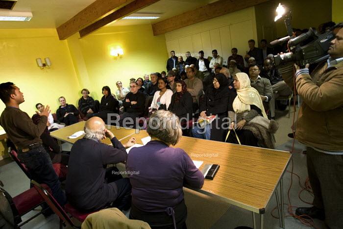 Councillor Oliur Rahman speaks at a Respect Tower Hamlets meeting, Kingsley Hall. London. - Jess Hurd - 2007-11-12