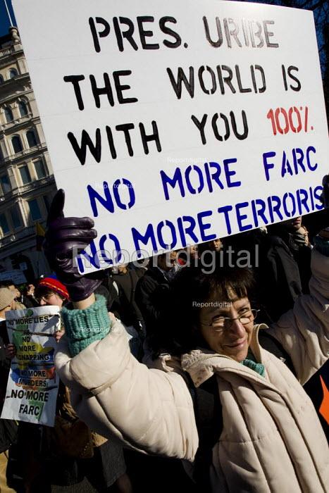 Anti Farc protest, London. - Jess Hurd - 2008-02-04