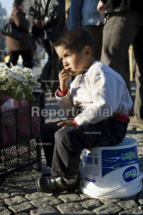 Child flower seller. Istanbul, Turkey. - Jess Hurd - 2008-03-12