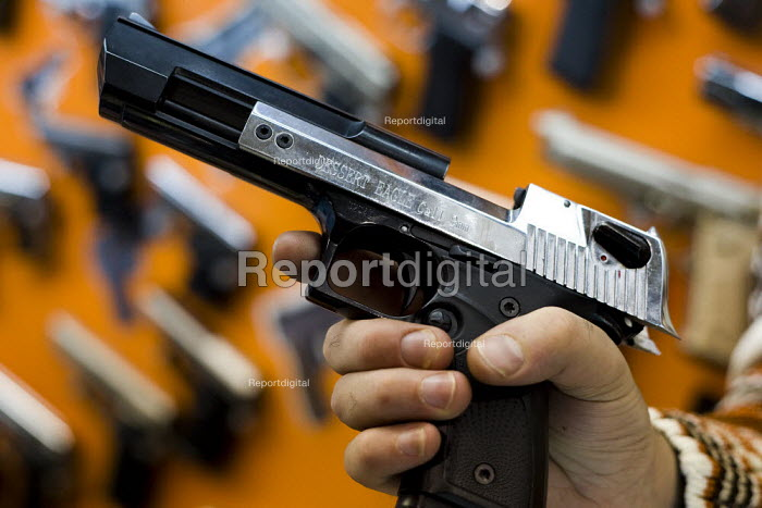 Israeli Baby Desert Eagle 9mm. Handgun market. Istanbul, Turkey. - Jess Hurd - 2008-03-14