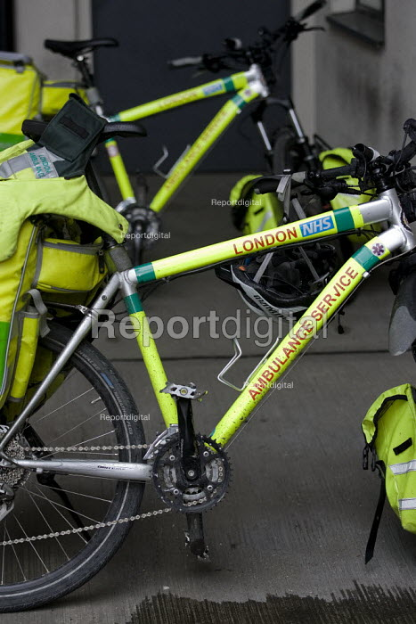 London NHS Ambulance Service bicycle, East London. - Jess Hurd - 2009-03-05