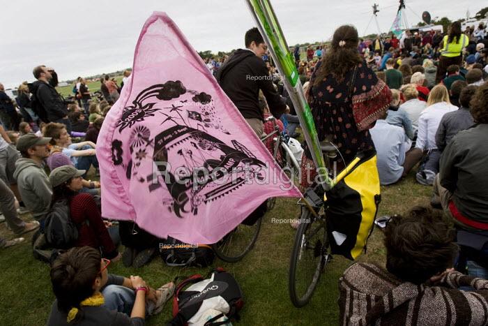 Climate Camp protestors establish on Blackheath. South East London. - Jess Hurd - 2009-08-26