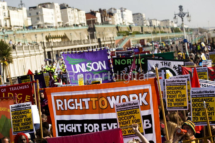 March for jobs, education and Peace, Labour Party Conference. Brighton. - Jess Hurd - 2009-09-27