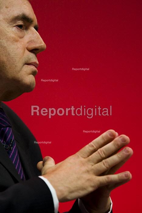 Gordon Brown, Prime Minister. Labour Party Conference 2009. Brighton. - Jess Hurd - 2009-09-28