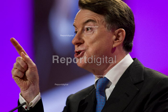 Peter Mandelson MP. Labour Party Conference 2009. Brighton. - Jess Hurd - 2009-09-28