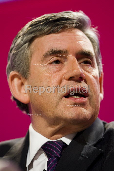 Gordon Brown, Prime Minister. Labour Party Conference 2009. Brighton. - Jess Hurd - 2009-09-28