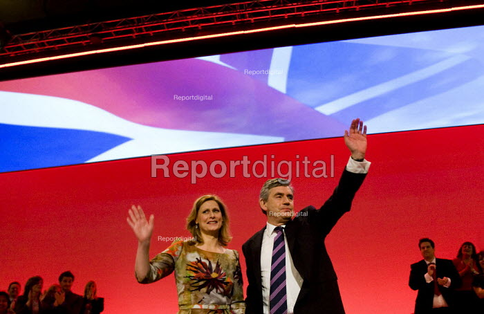 Gordon and Sarah Brown. Labour Party Conference 2009. Brighton. - Jess Hurd - 2009-09-29