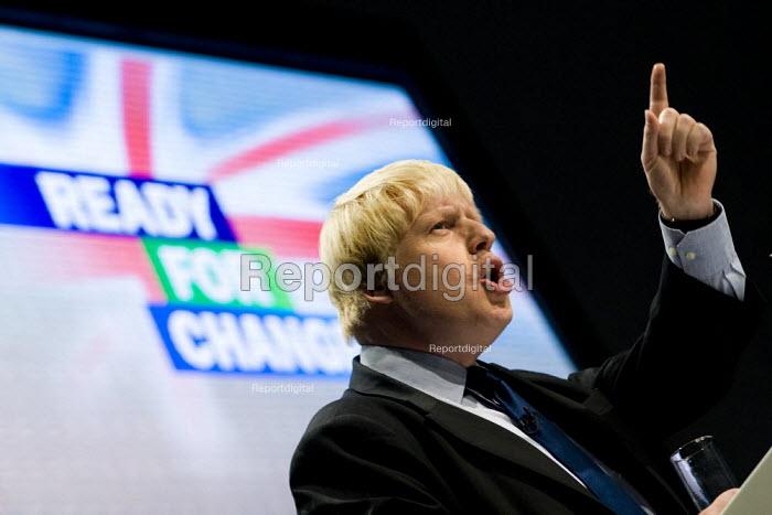 Boris Johnson MP. Conservative Party Conference 2009. Manchester. - Jess Hurd - 2009-10-05