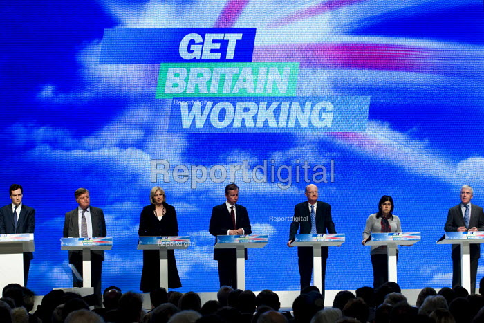 The Shadow Cabinet. Conservative Party Conference 2009. Manchester. - Jess Hurd - 2009-10-05