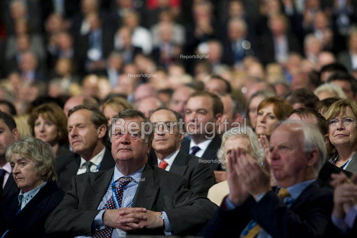 Kenneth Clarke MP and audience of delegates. Conservative Party Conference 2009. Manchester. - Jess Hurd - 2009-10-06