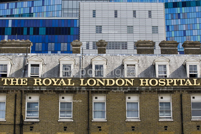 The Royal London Hospital with the new PFI building behind. Whitechapel, East London. - Jess Hurd - 2011-07-29
