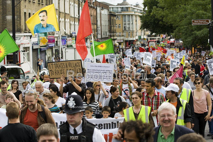 Give Our Kids a Future. A North London Unity Demonstration after the riots. North London. - Jess Hurd - 2011-08-13