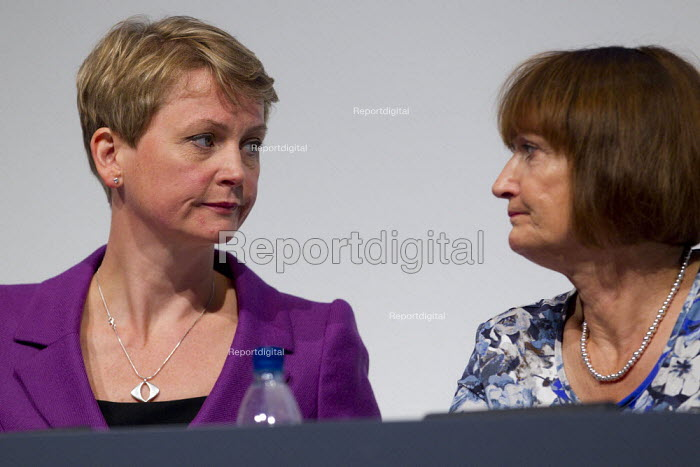 Yvette Cooper and Tessa Jowell MP. Labour Conference, Liverpool 2011. - Jess Hurd - 2011-09-28