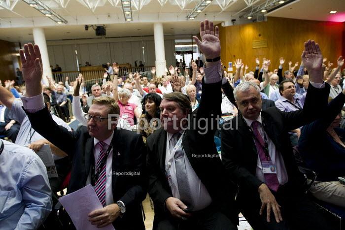 Len McCluskey Unite the Union. TUC London. - Jess Hurd - 2011-09-12