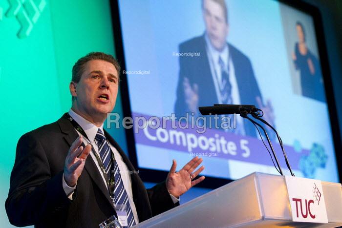 Mark Serwotka PCS speaking.TUC 2011 London. - Jess Hurd - 2011-09-14
