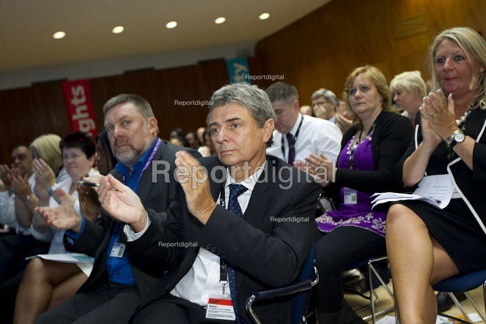 Dave Prentis and delegation Unison. TUC 2011 London. - Jess Hurd - 2011-09-14
