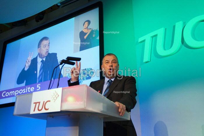 Brendan Barber speaking. TUC 2011 London. - Jess Hurd - 2011-09-14