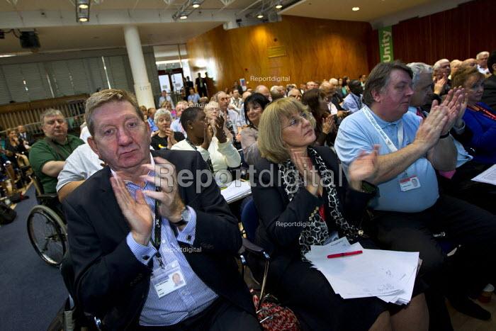 Len McCluskey and the Unite delegation. TUC 2011 London. - Jess Hurd - 2011-09-14