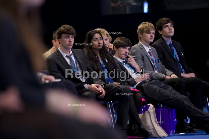 Conservative youth in the audience. Conservative Party Conference, Manchester, 2011. - Jess Hurd - 2011-10-04