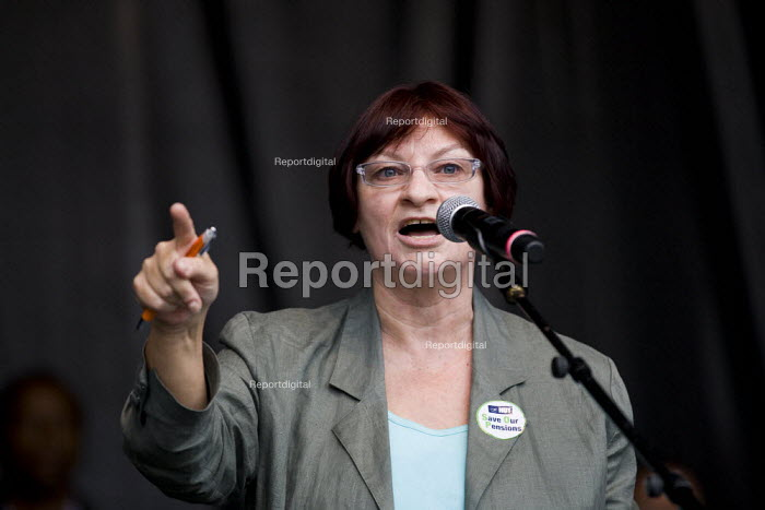 Christine Blower NUT. The March and Rally for an Alternative. Conservative Party Conference, Manchester, 2011. - Jess Hurd - 2011-10-02