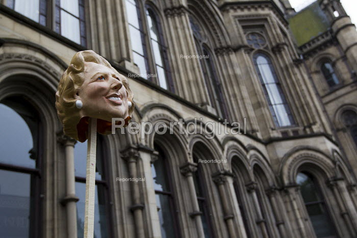 Margaret Thatcher's head on a stick. The March and Rally for an Alternative. Conservative Party Conference, Manchester, 2011. - Jess Hurd - 2011-10-02